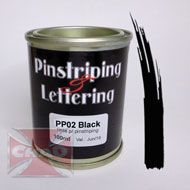 PP02 Black pinstriping 100ml