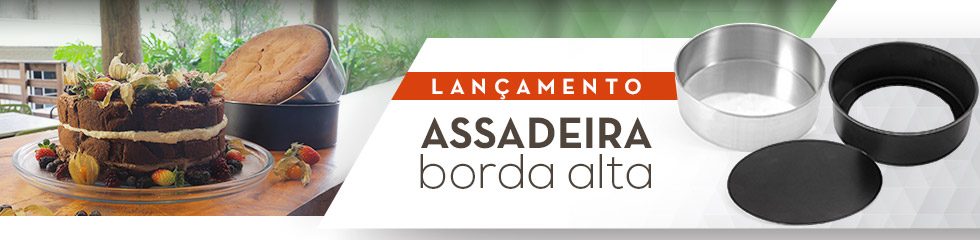 Assadeiras bordas altas