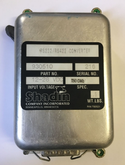 CONVERTER SHADIN RS-232/RS-422 PN: 930510